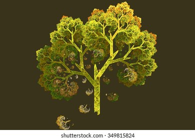tree in fairy-tale style. Fractal image.