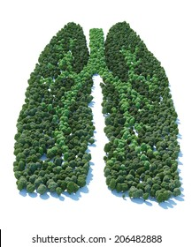 Tree with form of human lung