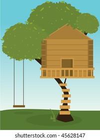 Tree house with swing - jpg version