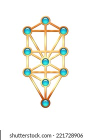 Tree Life Kabbalah Sephiroth Stock Illustration 221728906 Kabbalah explored as a paradigm through which to understand consciousness and its emanations as sephiroth: tree life kabbalah sephiroth stock