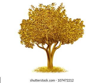 tree made of gold