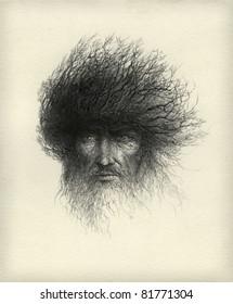 Tree Man. Ink on paper.