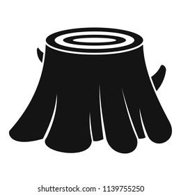 Tree stump icon. Simple illustration of tree stump icon for web design isolated on white background