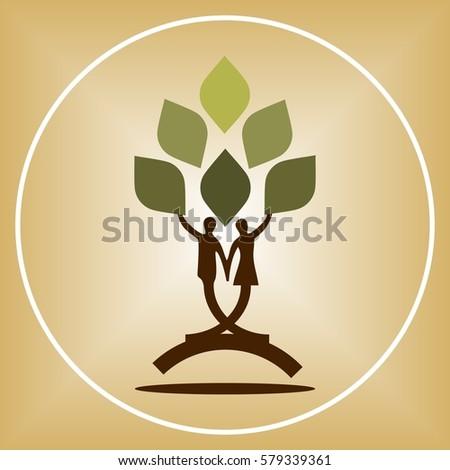 Tree Symbol Unity Love Stock Illustration 579339361 Shutterstock