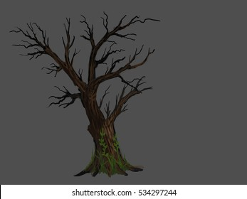 tree in the winter isolated