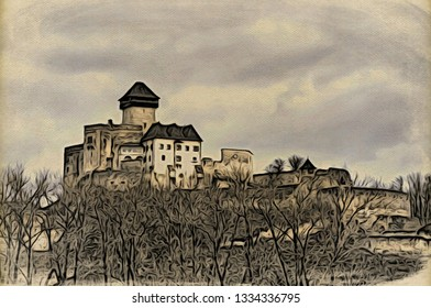 Trencin castle on the Slovakia