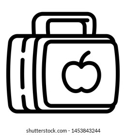 Trendy lunchbox icon. Outline trendy lunchbox icon for web design isolated on white background
