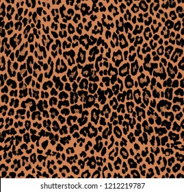 Trendy Repeated Leopard Pattern Seamless Texture Isolated Perfect for Textile Print