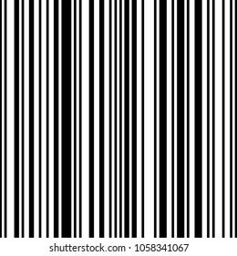 A trendy retro black and white striped fashion pattern.