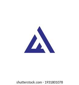 Triangle logo Simple, Elegant, and Luxurious Logo Design letter AF
