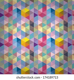 Triangle Pattern, Background, Texture Hexagon Illustration