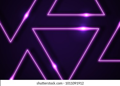 Neon Triangle Images, Stock Photos & Vectors | Shutterstock