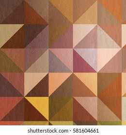 Triangle pattern in Warm colors