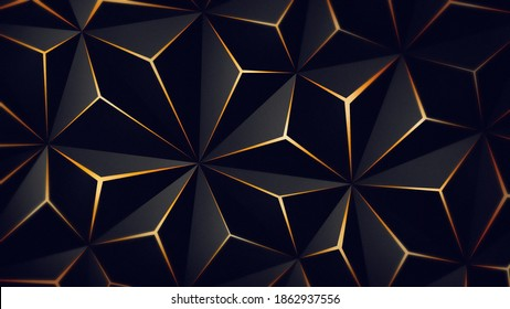 Triangle solid black golden illustration abstract hd download