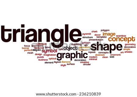 Triangle Word Cloud Concept Stock Illustration Royalty Free Stock