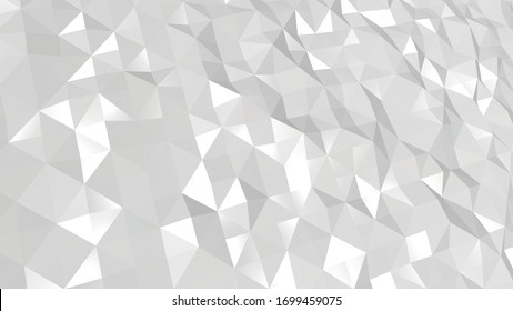 triangles low poly background . white halftone grey gray romantic сolors, beautiful for wedding invitations and baby show holidays. render wallpaper   glamorous shine luxury texture