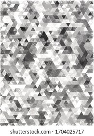 triangles pattern with a rough texture background. Background texture wall and have copy space for text. Picture for creative wallpaper or design art work.