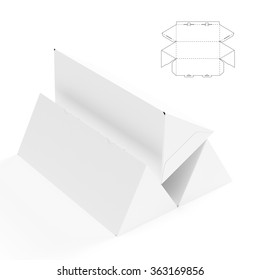 Triangular Box with Die Cut Template