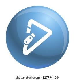 Triangular carabiner icon. Simple illustration of triangular carabiner icon for web design isolated on white background