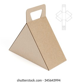 Triangular Caring Box with Die Cut Template