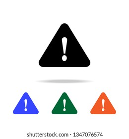 triangular exclamation point  icon for websites, web design, mobile app, info graphics