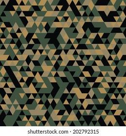 Triangular woodland camo banner pattern