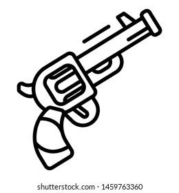 Triathlon revolver start signal icon. Outline triathlon revolver start signal icon for web design isolated on white background