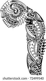 Tatouage à poitrine tribale