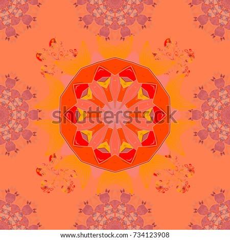 ed28400f24ffc Tribal Art Boho Print Vintage Flower Stock Illustration 734123908 ...