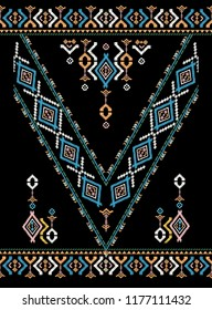 tribal ethnic texture. Aztec style. tribal embroidery. Indian,Gypsy,Mexican,folk pattern
