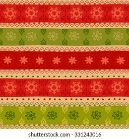 Tribal seamless Christmas pattern.