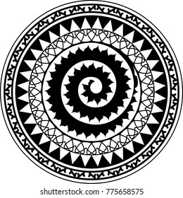 circle tribal tattoo images stock photos vectors shutterstock rh shutterstock com Celtic Tribal Tattoos for Women Tribal Vine Tattoos for Women