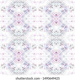 Tribal watercolor seamless pattern. Geometric textured background