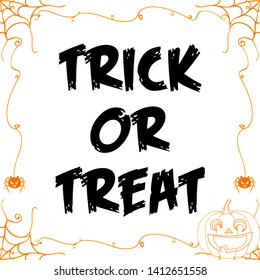 Trick or Treat Sign Illustration