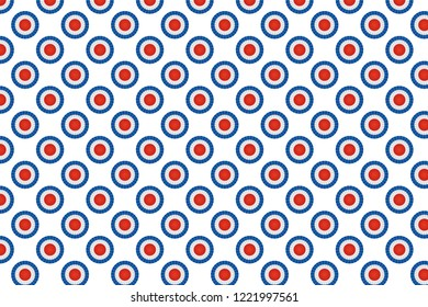 Tricolor cockade pattern background.