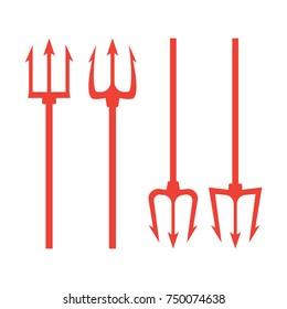 trident devil flat. Neptune red trident