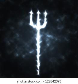 trident devils fork in the smoke illustration