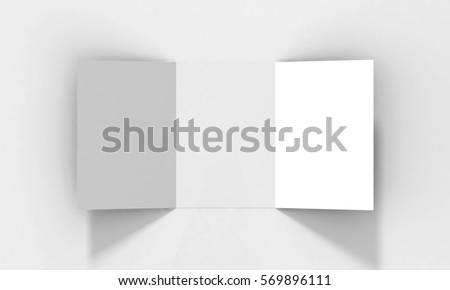tri fold a 5 brochure mockup realistic renderingのイラスト素材