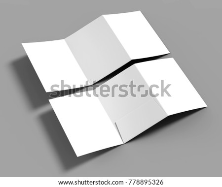 trifold blank white reinforced a 4 single stock illustration