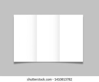 Tri-Fold Brochure Template Mockup A4, Leaflet