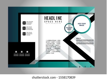 Tri-Fold Corporate Business Store Mock up & Brochure Design