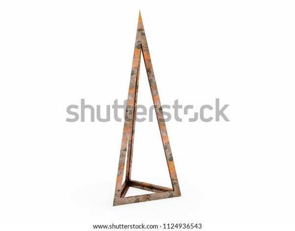 Trigonos, Leonardo da Vinci, illustration  3D model