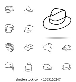 trilby hat icon. hats icons universal set for web and mobile
