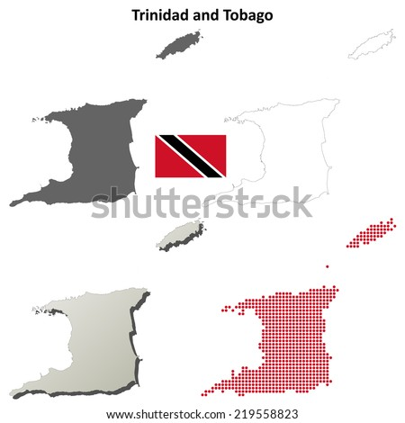 Royalty Free Stock Illustration of Trinidad Tobago Blank Detailed ...