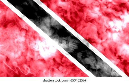 Trinidad and Tobago flag grunge background. Background for design in country flag
