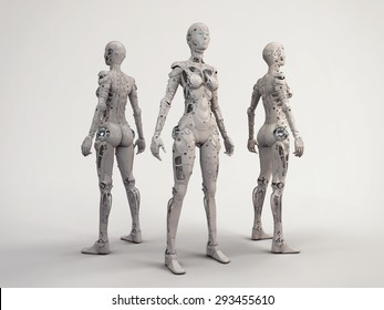 Trio of the robots girls