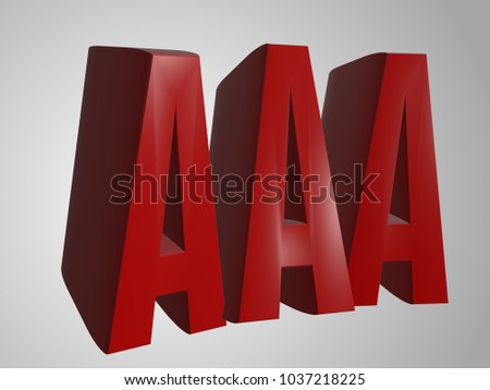 Triple 3 D Word Render Aaa Stock Illustration 1037218225 Shutterstock