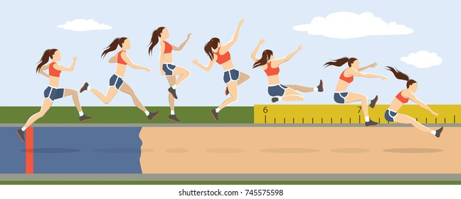 Long Jump Images Stock Photos Vectors Shutterstock