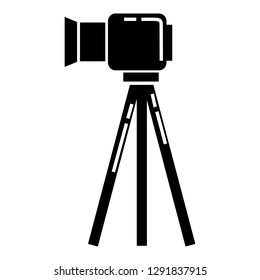 Tripod camera icon. Simple illustration of tripod camera icon for web design isolated on white background