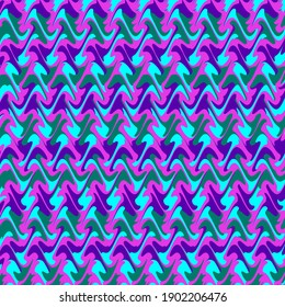 Trippy Colorful Vibrant Jewel Tone Squiggly Background Art